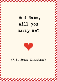 Template Christmas Marriage Proposal