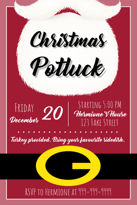 Template Christmas Potluck