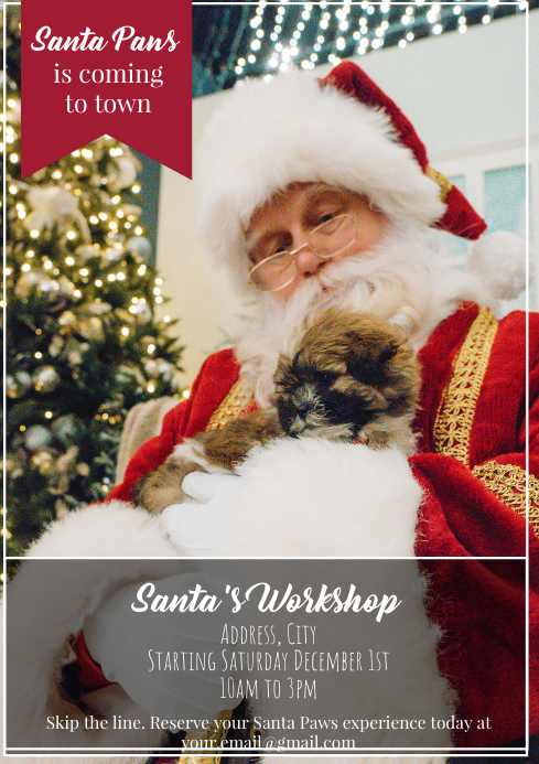 Template Christmas Santa Photos