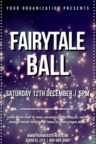 Template dance fairytale party Poster