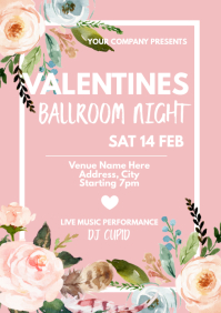 Template dance Valentine's ball