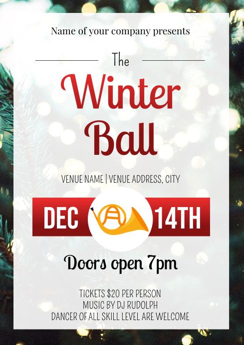 Template dance winter ball A4