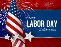 template design happy labor day, america Рекламная листовка (US Letter)