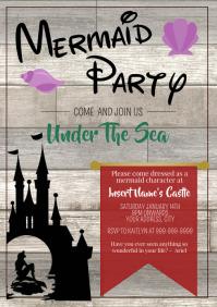 Template disney mermaid party