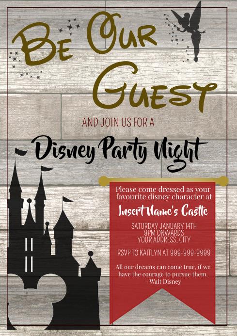 Template disney party night