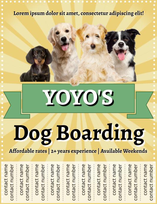Template dog Flyer (US Letter)