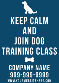 Template dog trainer A4
