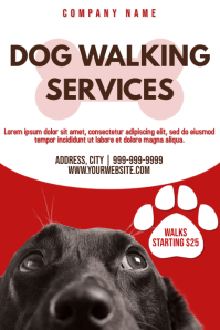 Template dog walker Poster