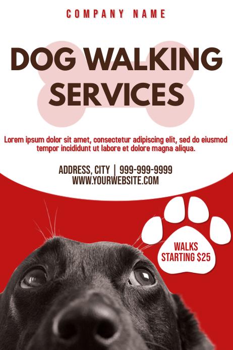 Template dog walker Poster
