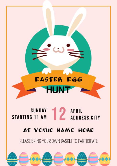 Template easter egg hunt