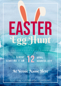 Template easter egg hunt A4
