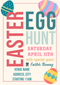 Template easter egg hunt