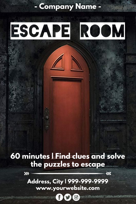 Room Design Layout Templates: Template Escape Room