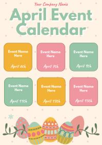Template event calendar easter