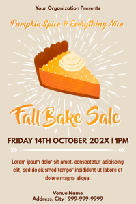 Template fall bake sale