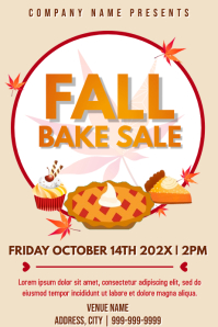 Template fall bake sale Poster
