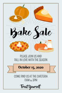 Template Fall Bake Sale Pies