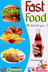 template fast food Gráfico de Pinterest