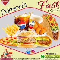 template fast food Instagram Post