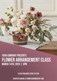 Template flower arrangement