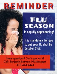 Template Flu Shot 2 Flyer (format US Letter)