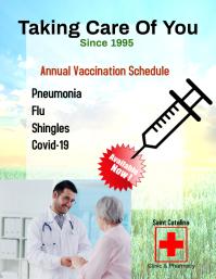 Template flyer/ COVID vaccine/clinic/pharmacy 传单(美国信函)
