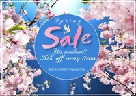 template flyer video spring sale A4