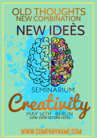 template flyers creativity seminarium A4