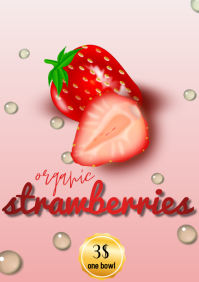 template flyers fresh berries poster