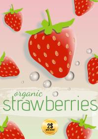 template flyers organic strawberries