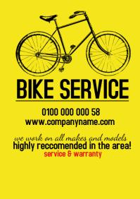 template flyerss bike service A4