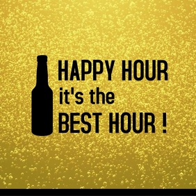Template for Happy Hour in Restaurant