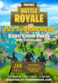 Template Fornite Tournament A4