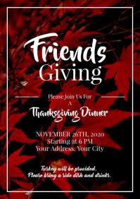 Template friendsgiving thanksgiving dinner po
