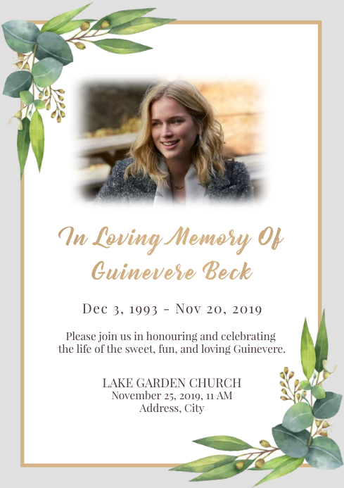 Template funeral A4