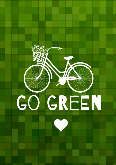 template go green cycle A4