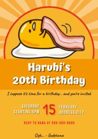 Template gudetama birthday A4