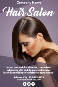 Template hair Poster