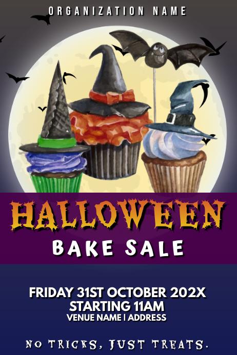 Template halloween bake sale Poster