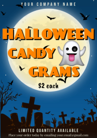 Template halloween candy gram