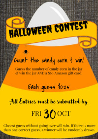 Template Halloween Contest A4