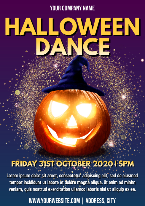Template halloween dance A4