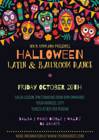 Template Halloween Dance Party A4