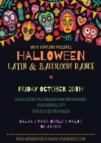 Template Halloween Dance Party A4