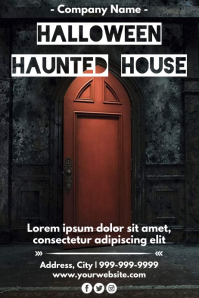 Template halloween Plakat