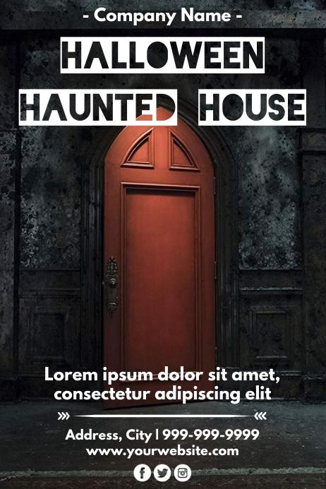 Template halloween Poster