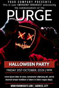Template halloween purge Poster