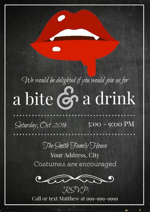 Template Halloween Vampire Dinner Party