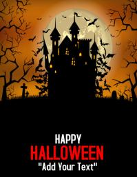 template happy halloween party design Pamflet (VSA Brief)
