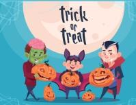 template happy halloween party design Volante (Carta US)